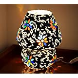 [Sponsored]TiedRibbons® Multicolour Mosaic Style Dome Shaped Glass Table Lamp Diwali Décor | Table Lamp Shades For Living Room | Show Piece For Living Room | Christmas Decoration Items | Christmas Light Decoration