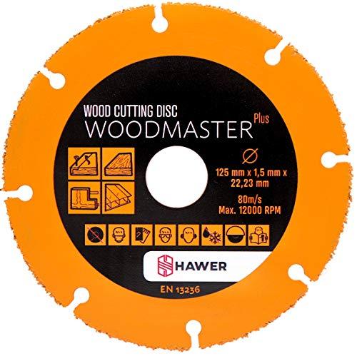 HAWER Woodmaster Plus Holztrennscheibe für Winkelschleifer 125 mm Wood cutting Disc