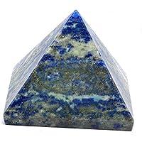 Preisvergleich für Healing Crystals India® Pyramide feinster kleiner Lazuli Lapis Edelstein 20–30 mm – Gratis eBook über Kristallheilung...