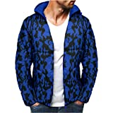 Luckycat Herren Camouflage Zipper Wolle Bluse Verdickung Mantel Pullover Outwear Top Bluse Winterjacke Steppjacke Daunenjacke Parka Mäntel Jacken