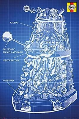 Posters: Doctor Who Poster - Haynes Dalek Blueprint (91 x 61 cm)