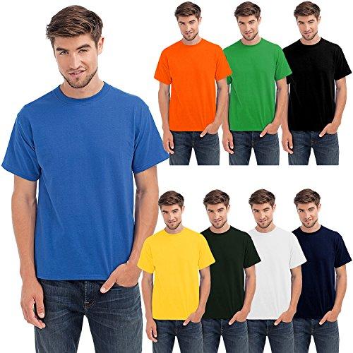 Hanes - Camiseta de manga corta para hombre - Para marcar músculo - Algodón