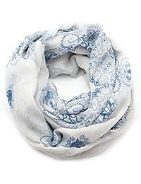 ISASSY Women's Ladies Vintage Elegant Wraps scarf scarves Shawl silk Chiffon Printing Chinese long Style warm neck for autumn winter
