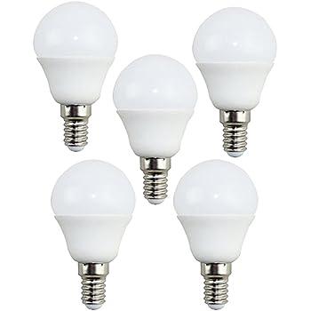 KHEBANG Bombillas LED E14 G45 7W Bombillas esfericas,Equivalente 60W,Luz Neutra 4000K,