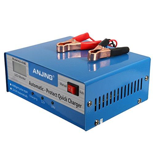 KFZ Akku Ladegerät, vollautomatisch Intelligente 200Ah Pulse Reparatur 250V 12/24V