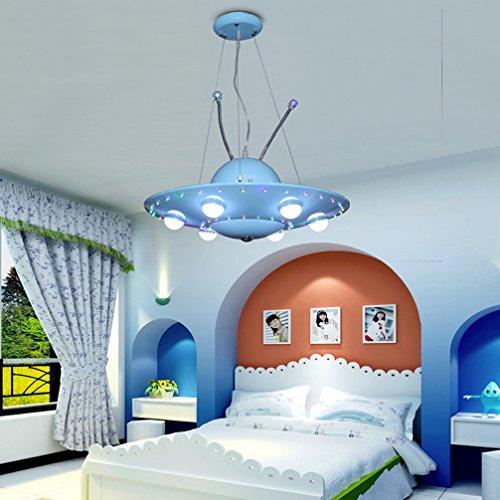 Kinderzimmer Pendelleuchte Modern UFO Kreative Kinderlampe LED Eisen Pendellampe Zeitgenössische Personalisierte Dekorative Hängeleuchte Für Kinderzimmer Mädchen Und Junge Schlafzimmer
