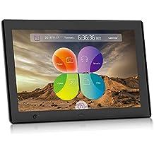 XYmart Marco Digital De Fotos UI Surface 10 Pulgadas Sensor De Movimiento 1024x600 Marco Digital De Fotos Multifuncionales De Alta Resolución