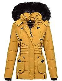 Marikoo Designer Damen Winter Jacke Parka Mantel Teddyfell warm gefüttert  B368 86628194ae