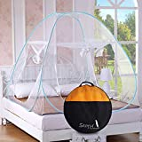 Story@Home Mosquito Net Foldable King Size/Queen Size Double Bed (Blue)