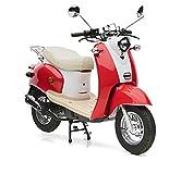 Motorroller Nova Motors Retro Star 50 rot-weiß - 45km