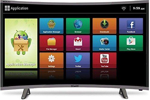 Mitashi 97.8 cm (38.5 inches) MiCE039v30 HS HD Ready Smart Curved LED TV