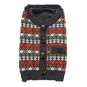 vêtement Chien Angelof Habit Pull Tricot Pour Chien Crabot Mignon De Chiot D'Hiver De VêTements De Chandail Avec Le Bouton