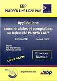 Applications commerciales et comptables sur logiciel EBP PGI Open Line Ligne PME : Exercices Niveau 1 by Robert Wipf (2014-10-01)