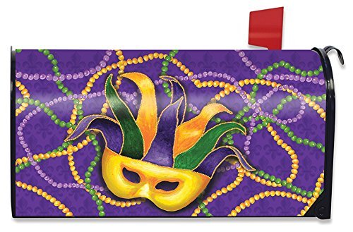 (Briarwood Lane Mardi Gras magnetisch Mailbox Cover Maske Perlen Urlaub Standard)