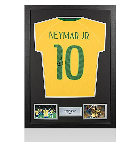 Framed-Neymar-Jr-Signed-Brazil-Shirt-World-Cup-2014