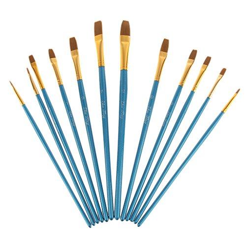 conjunto-de-12-piezas-nylon-de-pintura-de-brocha-de-pelo-artista-punta-plana-azul-de-manija