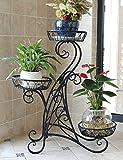 Holz Blumenregal ---- Eisen Blumenregale Mehrere Schichten Boden europäischer Stil Blumentopf-Rack Balkon Drinnen Wohnzimmer Einbauschränke --- Bitte beachten Sie die Beschreibung ( Farbe : 1 )