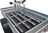 Universal Fahrradträger für PKW-Anhänger (Set 4 Fahrräder, 1.090 mm bis1.250 mm Ladeflächenbreite) MIT HALTEARME