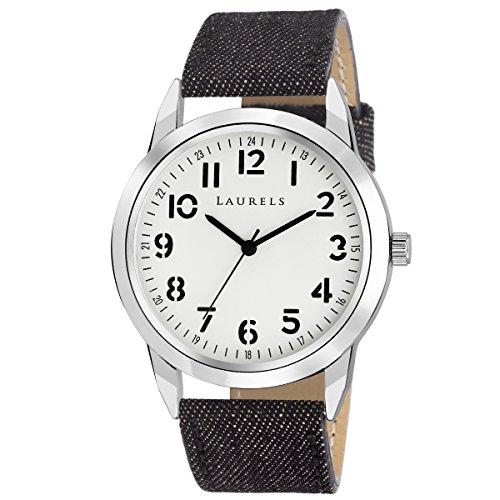 Laurels White Color Analog Men's Watch With Strap: LWM-DNM-010207