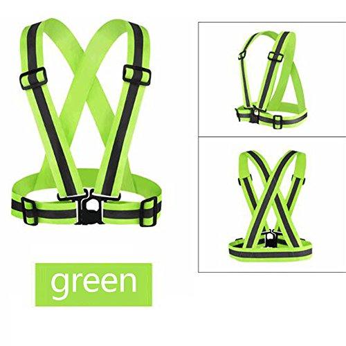 Farbe Zebra Warnweste Hohe Sichtbarkeit und Sicherheit für Nacht Laufen, Walken, Radfahren für Damen und Herren ()