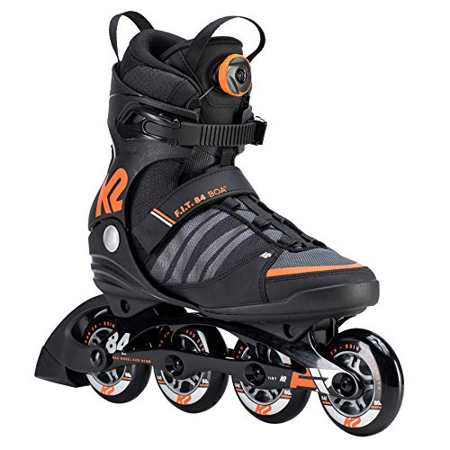 K2 Herren Inline Skates F.I.T. 84 BOA - Schwarz-Grau-Rot - EU: 41.5 (US: 8.5 - UK: 7.5) - 30D0180.1.1.085 -