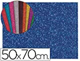 Liderpapel - Goma eva con purpurina 50x70cm 60g/m2 espesor 2mm azul oscuro (10 unidades)