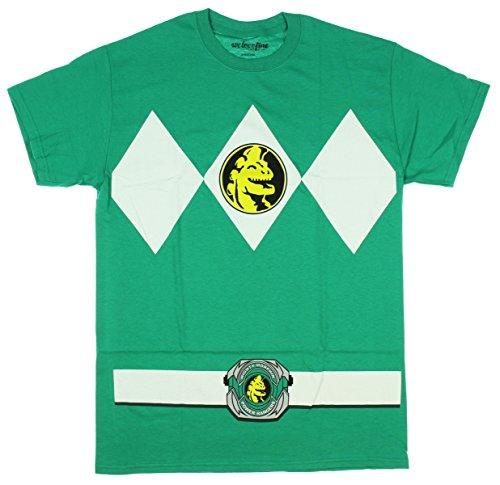 Mighty Morphin Power Rangers costume da uomo maglietta Kelly Green Small - Ranger Verde