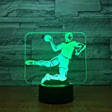 Handball 3D Led Lampe 7-Color Touch Base 3D Veilleuse Table Lampara Lampe Bébé Veilleuse Veilleuse Sport...