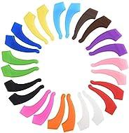 Cizen 12 Pairs Anteojos Antideslizantes, Gancho Silicona Ganchos de Orejas para Gafas para Gafas Miopía, Gafas