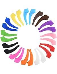 Cizen 12 Pairs Ganchos Gafas - Antideslizante Sujeta Gafas Silicona, 15 * 40mm/ 0,59 * 1,57inch