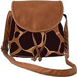 Snoogg Giraffe Pattern Casual Spacious MultiPurpose Women Sling Bag Carry Around