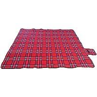 Rojo paided portátil Picnic manta de playa impermeable, al aire libre Camping de regalo 150