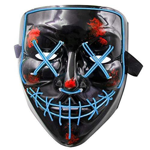 LED Maske Purge Maske mit 3 Blitzmodi für Halloween Fasching Karneval Party Kostüm Cosplay Dekoration Halloween Gruselige - Dies Ist Kostüm