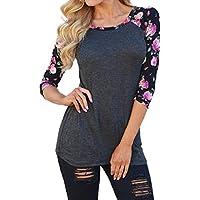 Minetom Donna Moda T-shirt Stampa Mezza Manica Allentata Casuale Camicetta