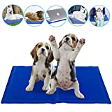 SOFTEEN alfombra de enfriamiento para perro mascotas gatos, no requiere electricidad o refrigeración, no tóxica, auto refrigerante cama para mantener a la mascota fresca en verano 19.7''×23.6''
