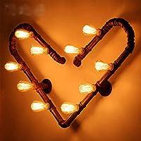 Lampada da parete di creativi retrò bar caffetterie corridoio studio ferro tubo a forma di cuore