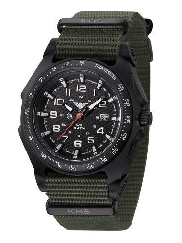 KHS Tactical Watch, Sentinel analog, Natoband oliv, KHS.SEAB.NO