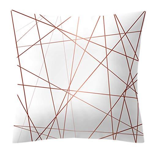 guangtian Dekorative Dekokissen Umfasst Kissen Fall Rose Gold Geometrische Ananas Glitter Polster Auf Einer Seite Gedruckt 45x45cm ( -