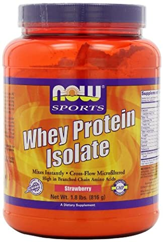 Whey protein isolate - 816 g - Fraise - Now foods