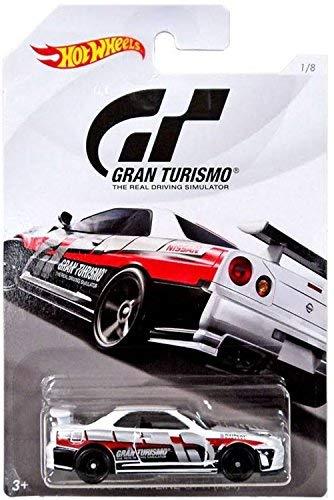Hot Wheels Nissan Skyline GT-R (R34) Gran Turismo Serie #2 weiß 1:64 #1/8