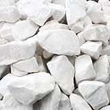 Marmorkies 1000 kg Big Bag ganz weiß gebrochen 50-150mm Zierkies