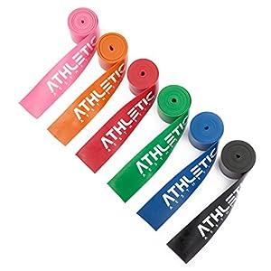 ATHLETIC AESTHETICS Floss Band + Tasche und Übungsanleitung [2m] Flossing Band für Physiotherapie, Triggerpunktbehandlung und zur Selbstmassage – Für Freizeitsportler und Leistungssportler Geeignet