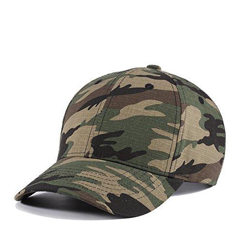 JEEDA Sports Hat Atmungsaktive Outdoor Laufmütze Camo Baseballmützen 6 Panel Baseball Cap Camouflage Cap (Camo-baseball-cap)