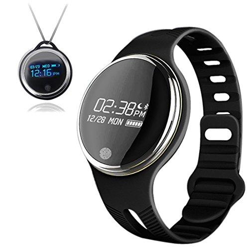 Dax-Hub E07【IP-68】 impermeabile intelligente orologio appositamente progettato per nuoto e bicicletta; Bluetooth 4.0 Sport Bracciale Calorie Tracker Sport Wrist Band Pedometro Salute sonno Monitor Wristband Compatibile con Android 4.3 /4.4 /4.5 /5.0 /5.1, IOS 7.1 8.0 8.1 4s / 5s / 6 / 6S / 7 Smartphone