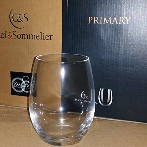 Lot de 6 verres 35 cl pour vin eau - Chef et Sommelier ligne Primary
