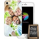 dessana Eigenes Foto Transparente Silikon TPU Schutzhülle 0,7mm dünne Handy Tasche Soft Case für Apple iPhone 7 Personalisiert Motiv