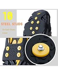 Schuhspikes, Ice Klampen Traktion Rutschfeste über Schuhe/Stiefel 15 Stollen Schnee Ice Grips Steigeisen Stollen Spikes