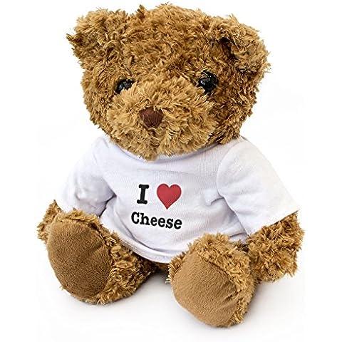 Nuovo-I LOVE formaggio, con orsetto, da coccolare, ideale come regalo per compleanno o Natale