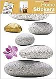 1art1 39985 Steine - Zen Steine Wand-Tatoos Aufkleber Poster-Sticker (70 x 50 cm)