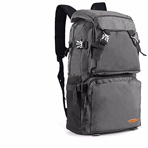 TBB-Doppia tracolla grande capacità viaggia zaino alpinismo sacchetto esterno impermeabile borsa svago,arancio grande Grey Large